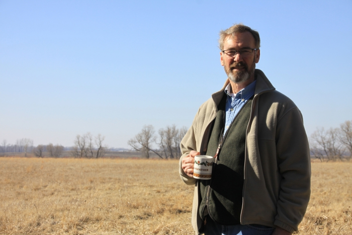 New FSA Director Grant Herfindahl enjoys the solitude of his rural Swift County farm.