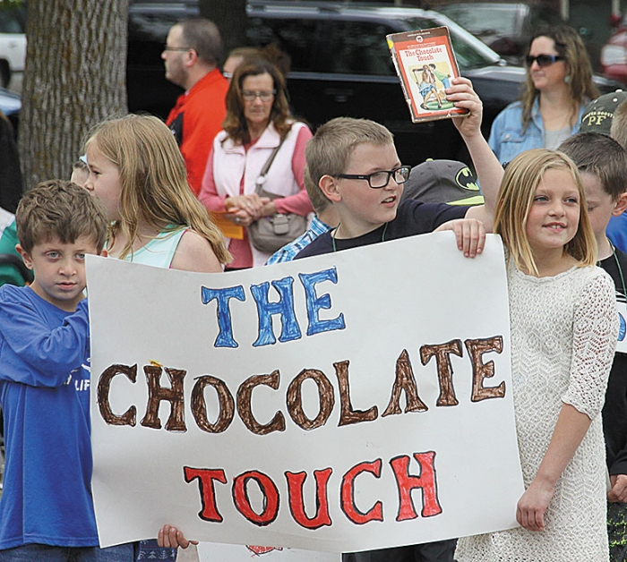 """The Chocolate Touch"" was read by Anne Duncan's second grade class."