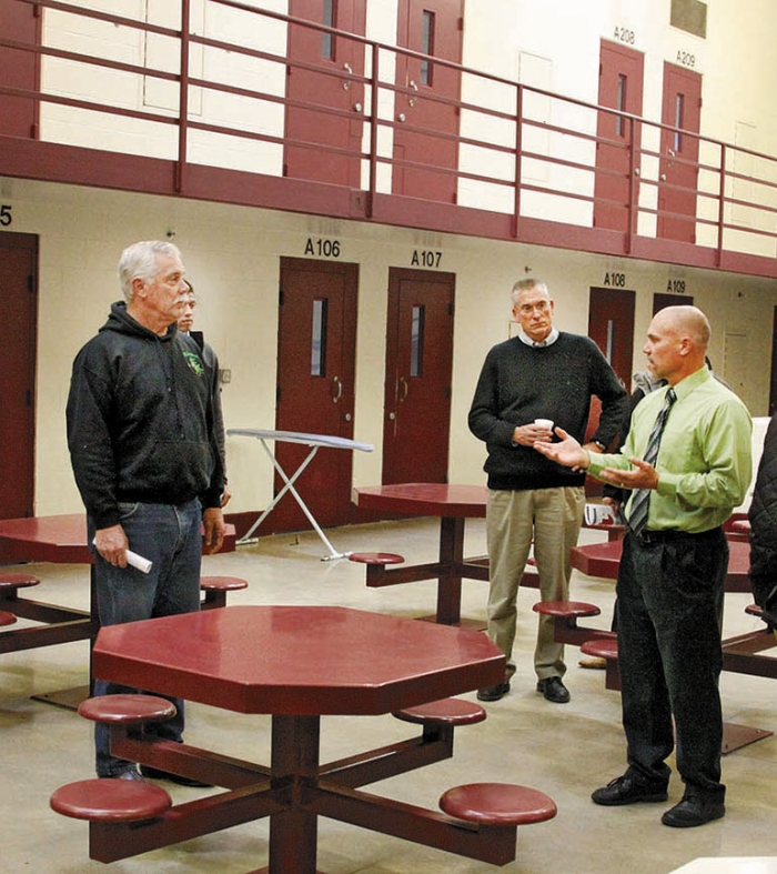 Members of the Legislature's prison task force toured the Appleton prison last year.