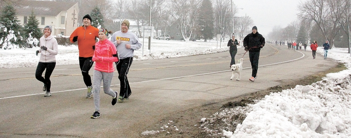 Sponsored by Bluestem Dental, the annual Turkey Trot Thanksgiving morning raises money and food that is donated to the Food Shelf.