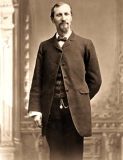 Fred Harvey (1835-1901) is the originator of restaurants in railroad depots along the Atchison, Topeka and Santa Fe Railway railroad lines.