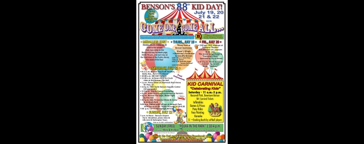 2018 Benson, Minnesota Kid Day poster