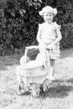 Ardis (Plackner) Just with her doll buggy. She was in the first Benson Kid Day parade in 1931. She plans to be in the 88th Kid Day parade Saturday.
