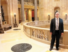 District 17A state Rep. Tim Miller, R-Prinsburg, is serving his second two-year term in the Minnesota House. Swift County is part of his district. He is pictured above standing in the newly refurbished rotunda of the state Capitol.