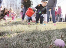 There were lots of smiles on the kids participating in Saturdays' Easter Egg hunt at the Evangelical Free Church in Benson. Kids collected the eggs, then went inside where they were given a bag of treats and a book.