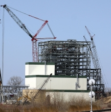 Fibrominn, now Benson Power, LLC, under construction in 2006. The plant would shut in the summer of 2018 if NSP/Xcel Energy buys it from investors.