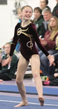 Mariah Ahrndt has been a consistent top performer for the gymastics team this season and has a high all-around score of 34.675.