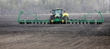 Area farmers were out doing fieldwork and planting prior to Monday's rain as April's temperatures went from very cool to nice and warm.