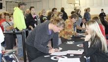 People from the area signed up for next Tuesday's Target Celebrity Celebration.